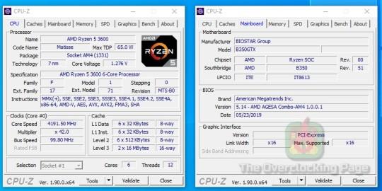 UEFI - Biostar B350GTX